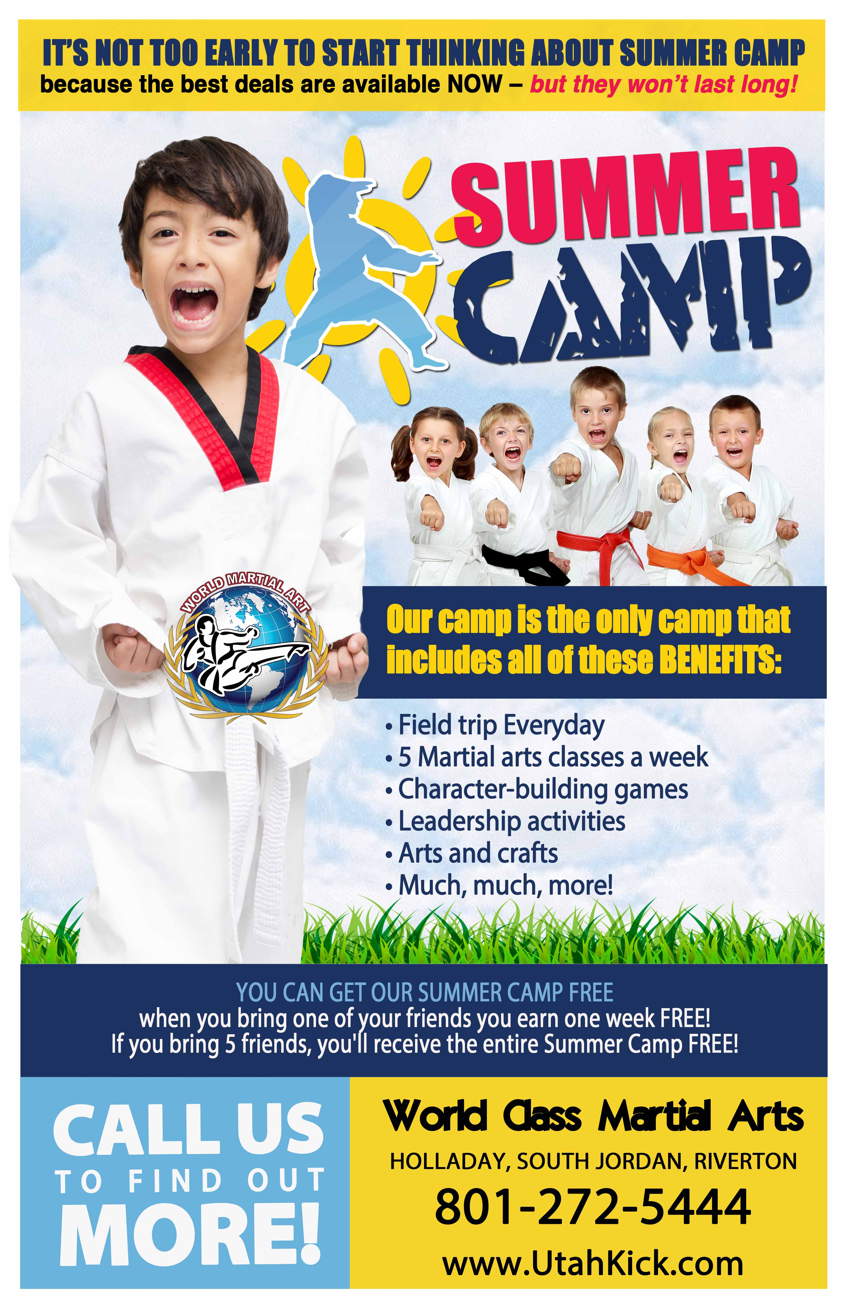 World Martial Arts summer camp 2017